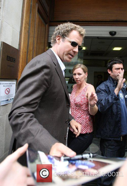 Will Ferrell arriving at Radio 1 to promote...