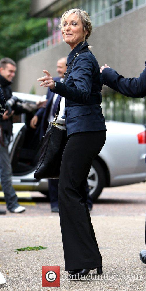 Fiona Phillips arrives at the GMTV studios. The...