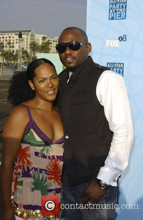 Omar Epps and guest Fox All-Star Party At...