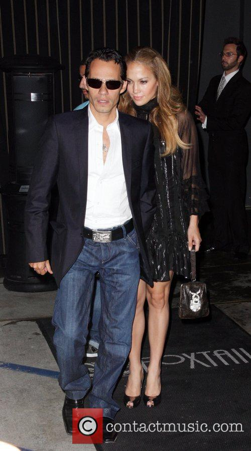 Marc Anthony and Jennifer Lopez leaving Foxtail Los...