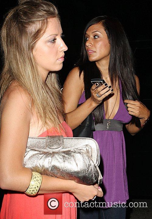 Jo De La Rosa leaving Foxtail nightclub with...