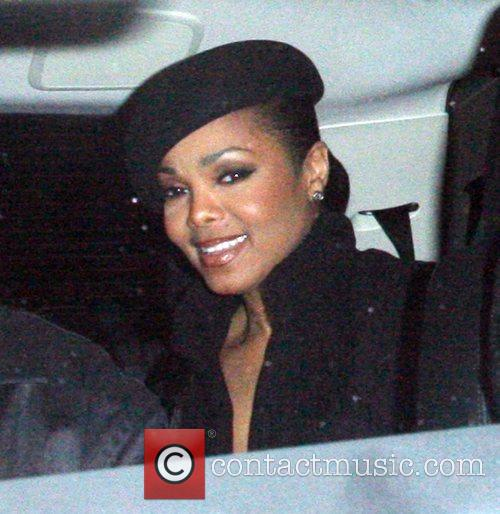 Janet Jackson leaving Foxtail Los Angeles, California