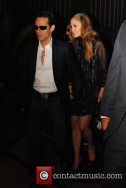 Marc Anthony and Jennifer Lopez leaving Foxtail