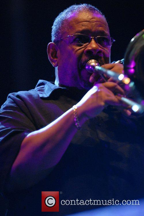Trombonist Fred Wesley, pivotal member of James Brown's...