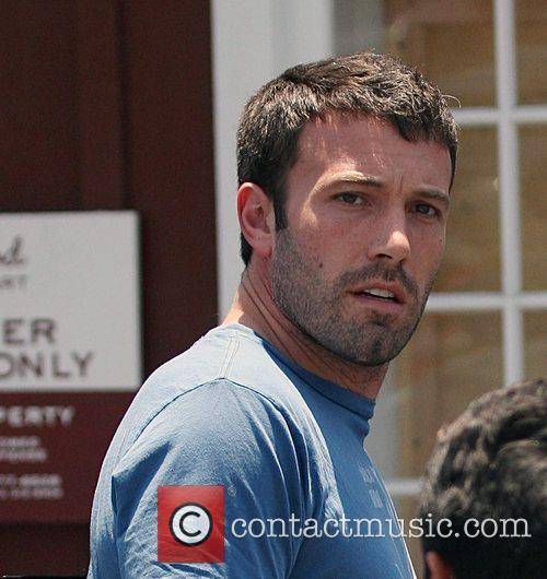 Ben Affleck leaving The Brentwood Country Mart with...