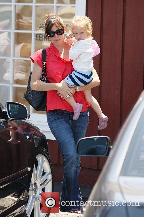 Jennifer Garner and Violet Affleck leaving The Brentwood...