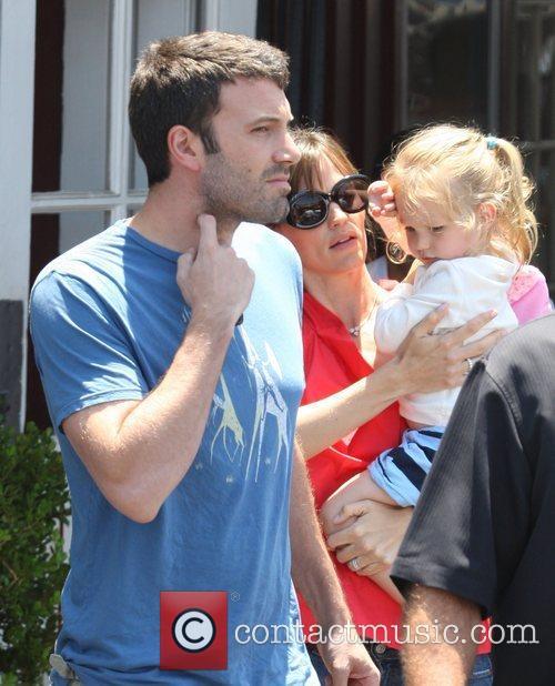 Ben Affleck, Jennifer Garner and daughter Violet Affleck...