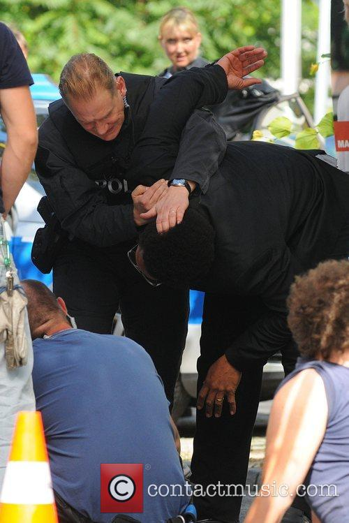 Gary Dourdan arrested at the set of the...