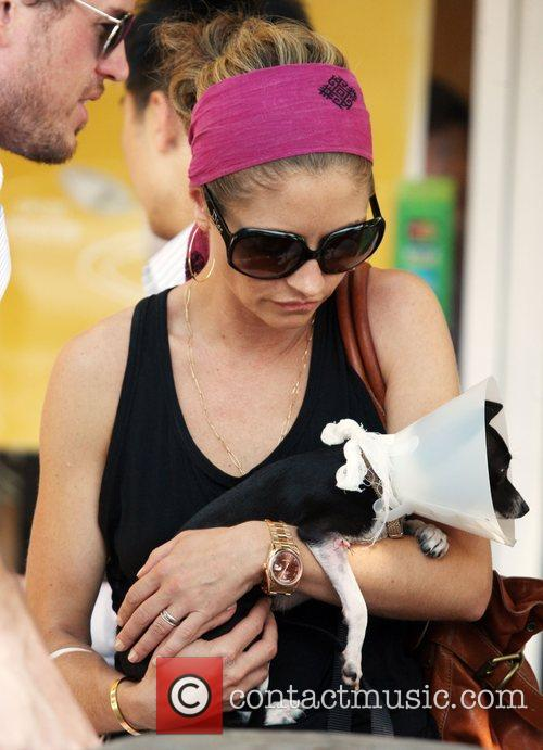 rebecca gayheart adopting an injured puppy in while shopping in los angeles 2030020