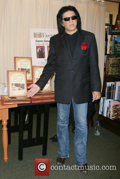 Kiss frontman signs copies of his new book...
