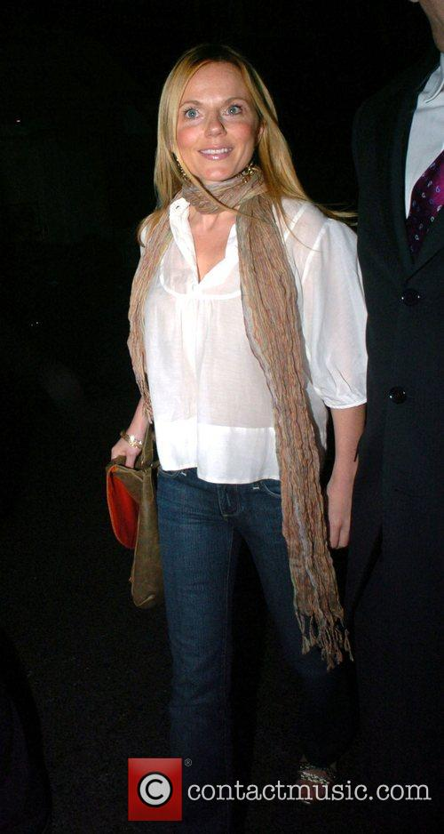 Geri Halliwell leaving Scott's restaurant