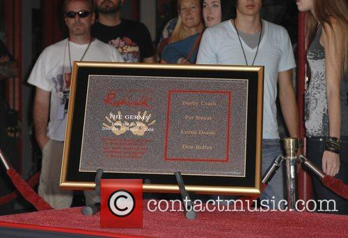 The Germs are inducted into Hollywood's Rockwalk Los...