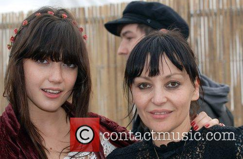 Daisy Lowe and Pearl Lowe backstage at Get...