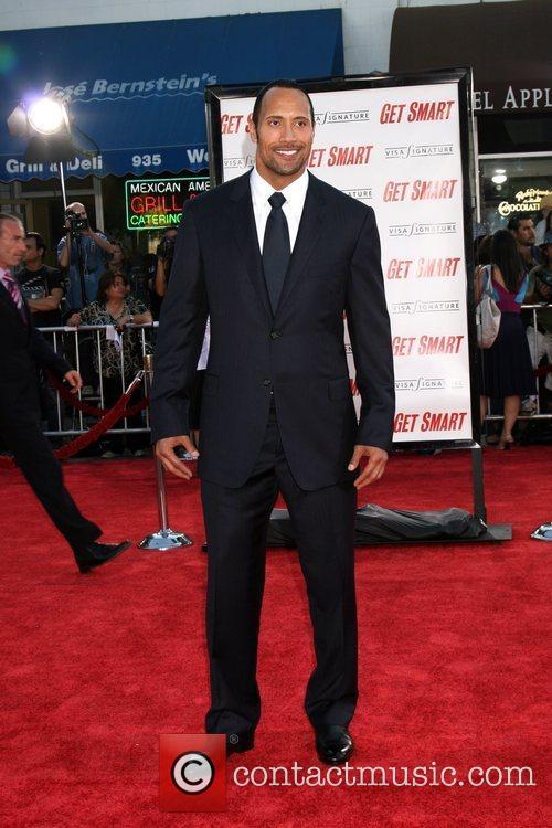 Dwayne Johnson aka The Rock Premiere of 'Get...