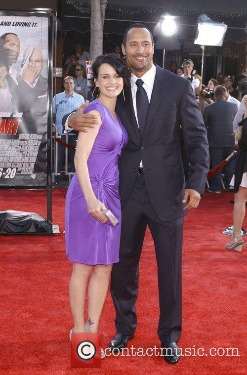 Carla Gugino and Dwayne Johnson aka The Rock...