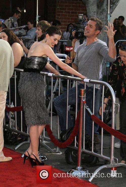 Anne Hathaway talks to CNN Premiere of 'Get...