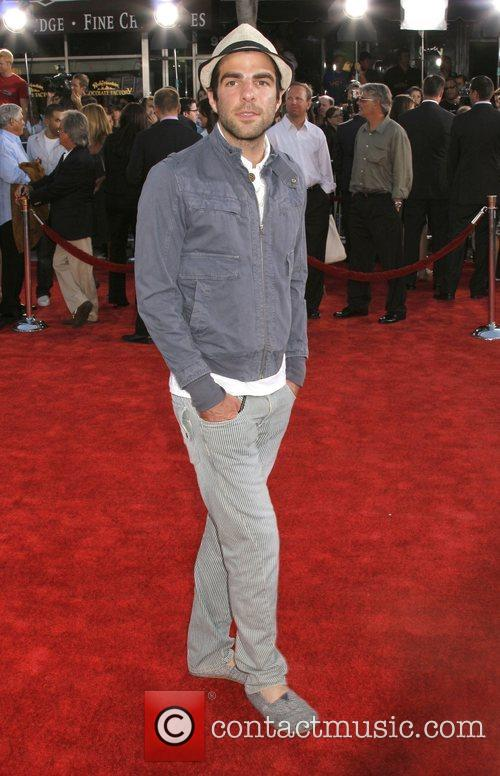 Zachary Quinto wearing slipers Premiere of 'Get Smart'...