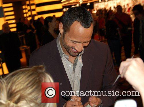 Dwayne Johnson AKA The Rock at a charity...