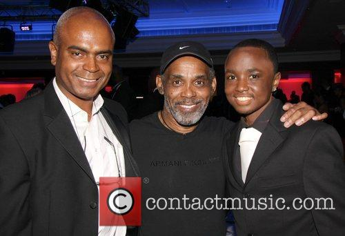 Orin Lewis, Frankie Beverley and Orin's son attends...