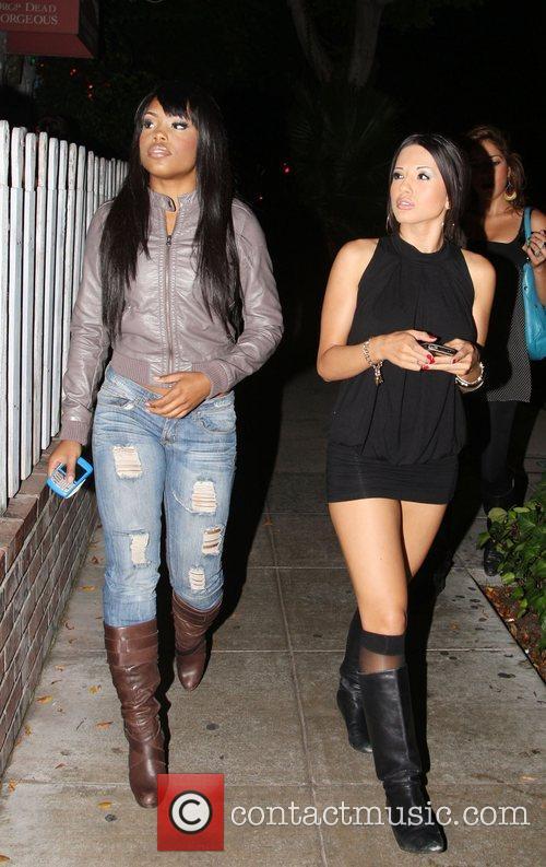 Tiffanie Anderson and Natalie Mejia of girl group...