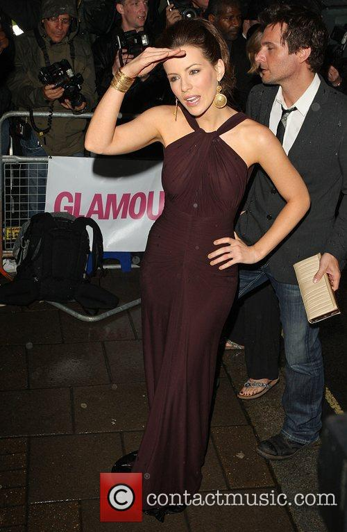 Kate Beckinsale with her husband Len Wiseman Glamour...