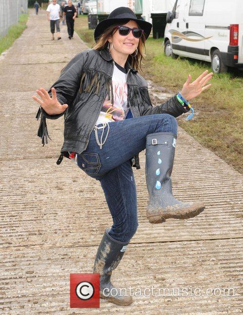 Backstage at Glastonbury Festival - Day One