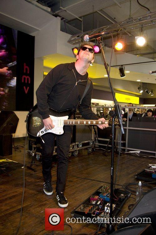 Performing at HMV on Oxford Street.