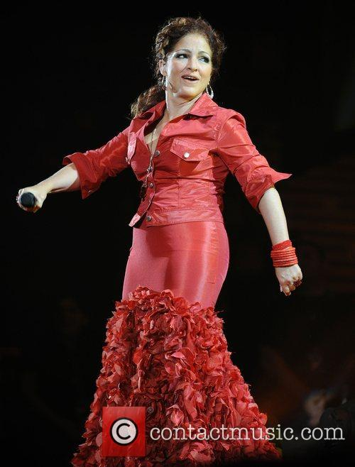 Gloria Estefan performs at the Wembley Arena