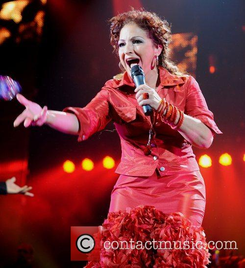 Gloria Estefan performs at the Wembley Arena London,...