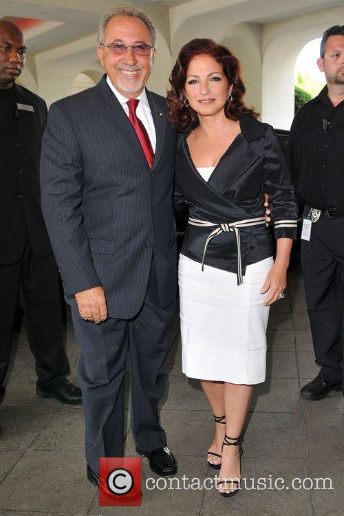 Gloria Estefan and Emilio Estefan at the Seminole...