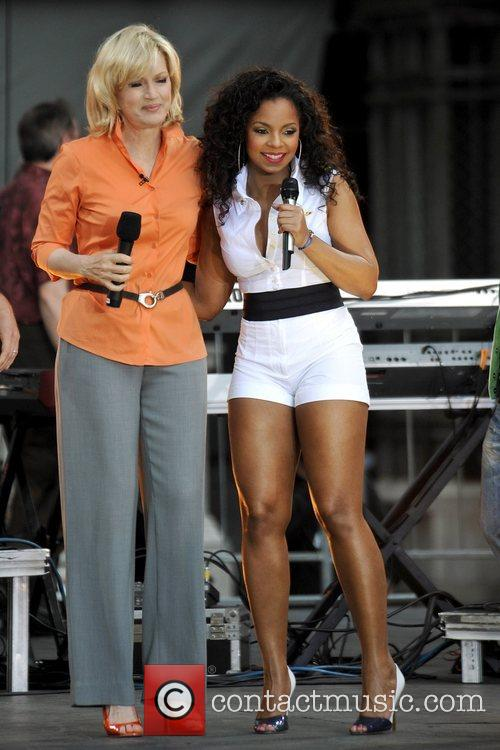 On stage for Good Morning America's Summer Concert...