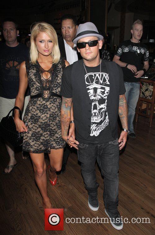 Paris Hilton and Benji Madden at 'Good Charlotte...