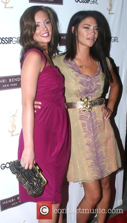 Leighton Meester and Jessica Szohr 'Gossip Girl' party...