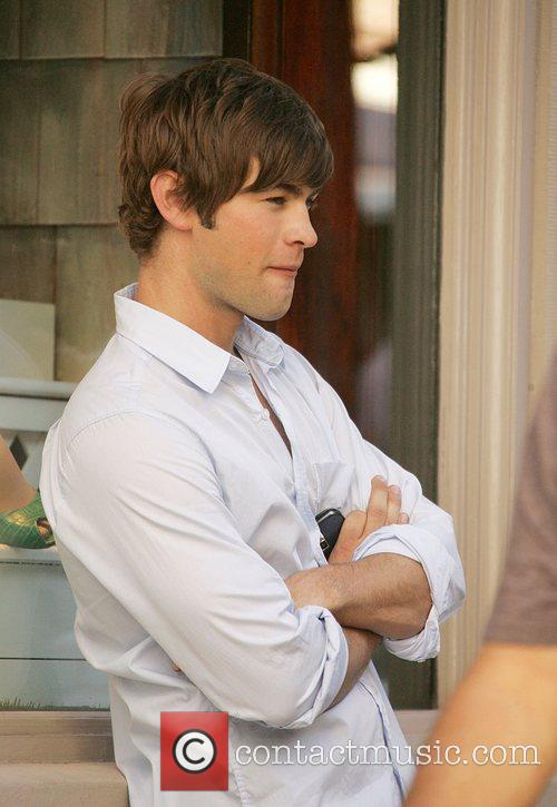 Chace Crawford  film on location for the...