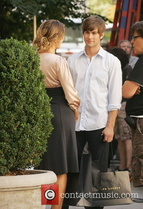 Madchen Amick and Chace Crawford  film on...