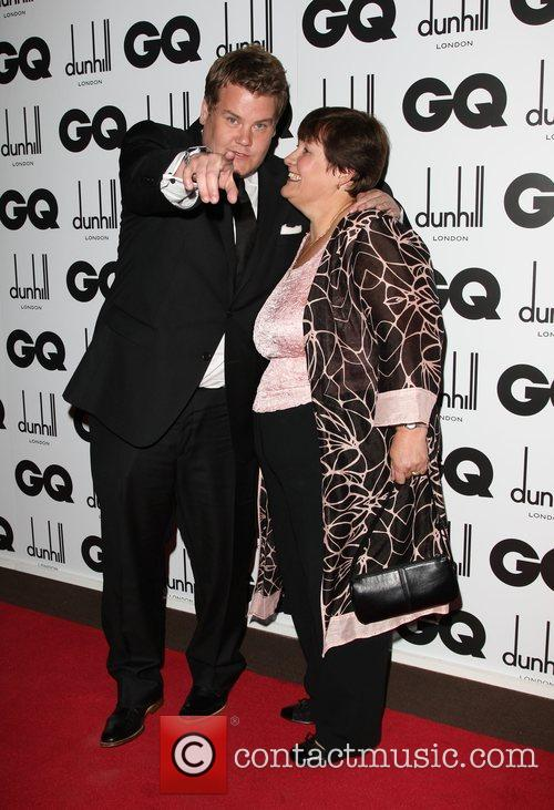 James Corden with his mother GQ Men of...