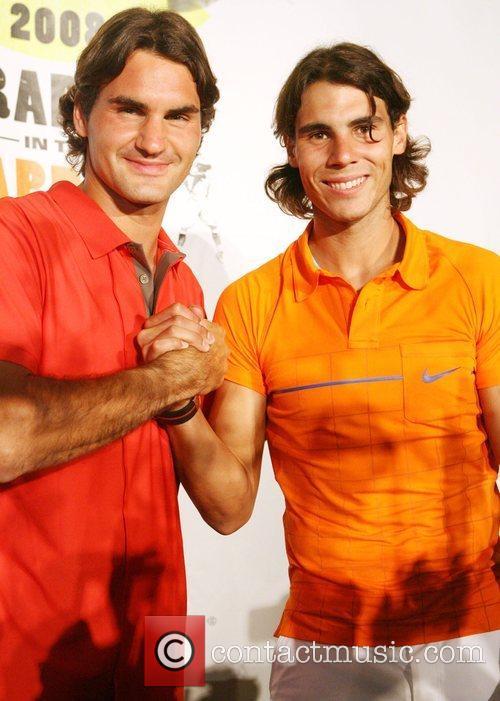 Roger Federer and Rafael Nadal 5