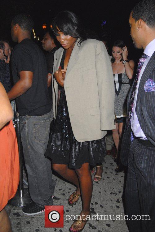 Venus Williams outside the Green Door in Hollywood...