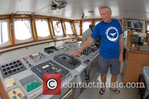 Press conference for Greenpeace ship Artic Sunrise at...