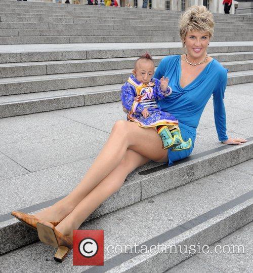 He Pingping and Svetlana Pankratova Photocall for the...