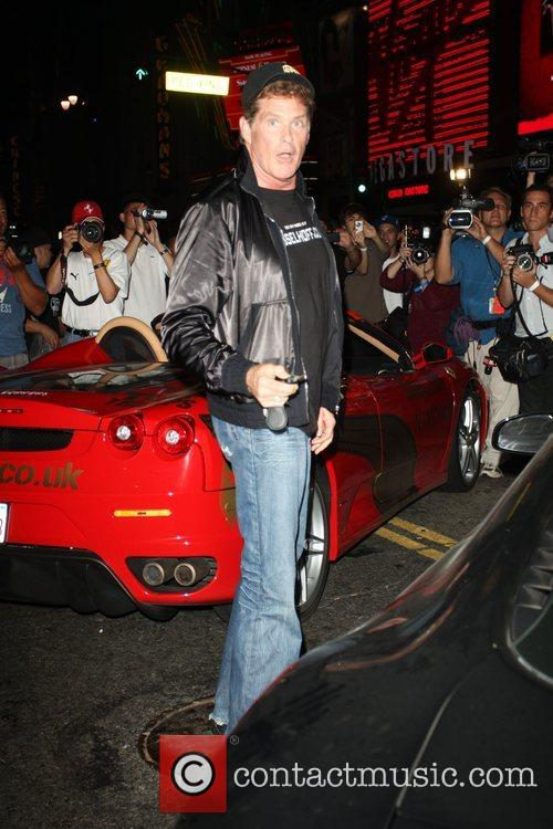 David Hasselhoff at The second stage of the...