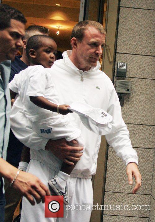 David Banda and Guy Ritchie leaving the Kabbalah...