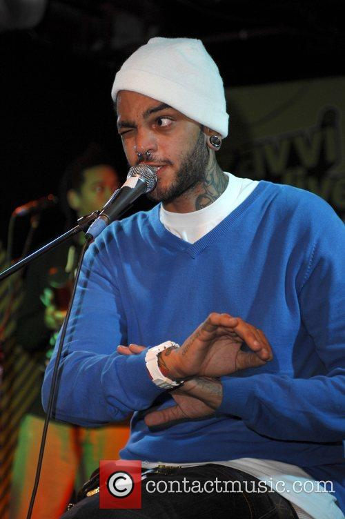 Travis Mccoy Gym Class Heroes Perform For The Launch Of Their New