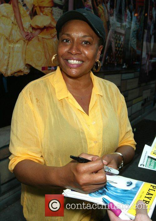 Jenifer Lewis signs autographs for fans after appearing...
