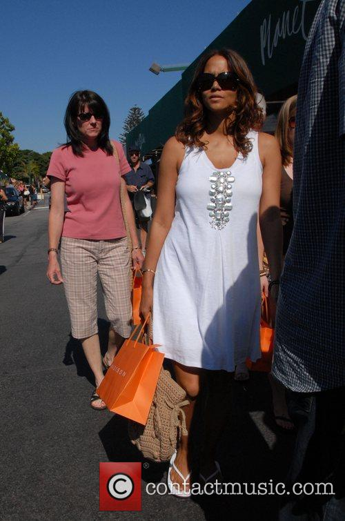 Halle Berry shopping with her mother at Cross...