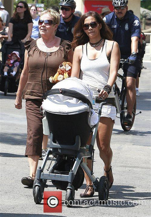 Halle Berry at the Los Angeles Zoo and...
