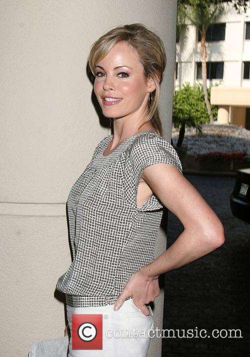 Chandra West  arriving at the Hallmark Channel...