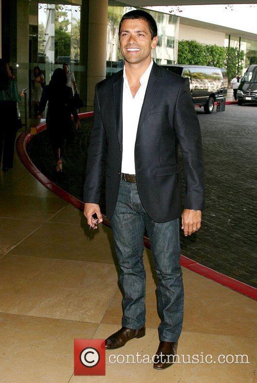 Mark Consuelos arriving at the Hallmark Channel Presentation...