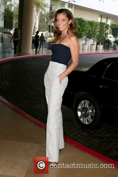 Michael Michele  arriving at the Hallmark Channel...