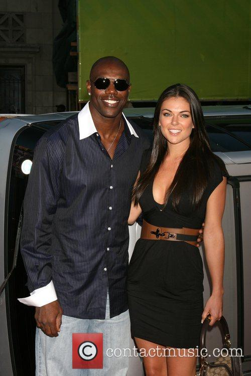 Terrell Owens and guest 'Hancock' Los Angeles Premiere...